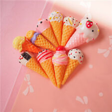 10pcs Ice Cream Fun Phone Decoration Strap Gift Decor Plastic Material 1-2cm