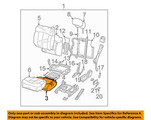 GM OEM Front Seat Bottom-Foam Cushion Pad Insert Left 19330710
