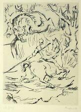 HEINRICH GRAF VON LUCKNER - St. Georg - Radierung / Kaltnadel 1922