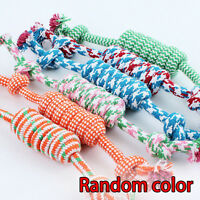 Hot Strong Bone Rope Throw Dog Toy Chew Puppy Play Tug Pet Exercise Braided Knot