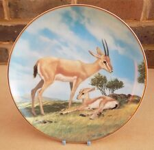 W.S. GEORGE Last of Their Kind Collector Plate - The Slender-Horned Gazelle