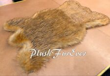 Thick Grizzly Bearskin Area Rug 3' x 5' Bear Lodge Cabin Decor Rustic USA Made