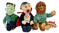 Set 3 Universal Studios Monsters 1999 Plush Dracula Frankenstein Halloween 9""