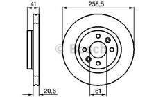 1x BOSCH Disco de freno delantero Ventilado 258mm 0 986 479 B21