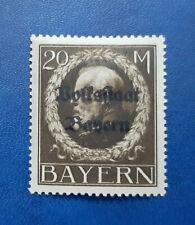 Germany Stamps Bavaria Bayern 20 Mark 1919 Mi. Nr. 133 (16671)