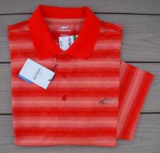NWT GREG NORMAN Attack Life PlayDry Performance Mens Golf Shirt-L Ret@$55 ORANGE