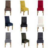 Dining Chair Cover Velvet chair Slipcovers Stretchy Chair Protector Multi Color
