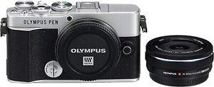 NEU: Olympus PEN E-P7 Silber Body + 14-42mm Zoom Pancake Objektiv MFT M43 PEN-F