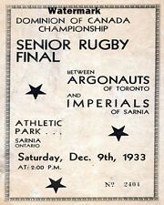 Grey Cup 1933 Toronto Argonauts vs Sarnia Imperials Game Program 8 X 10 Photo