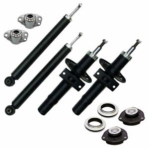 4x Gasdruck Stoßdämpfer Serie 4x Domlager für Audi A2 Typ 8Z VW Polo 5 Typ 9N