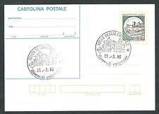 1986 ITALIA CARTOLINA POSTALE CASTELLO DI SPOLETO 450 LIRE FDC - 4