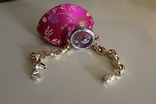 Authentic Origami Owl Gold Classic Living Locket Bracelet With Origami Owl Pouch