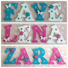 personalised child kids wall door wooden letters name plaque gift any nametheme