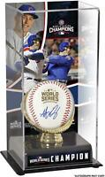 Anthony Rizzo Cubs 2016 WS Champs Signed WS Logo Baseball & Display Case w/Image