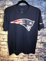 NEW ENGLAND PATRIOTS Adult Blue NIKE Short Sleeve Graphic T-Shirt Size Medium🔥