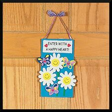 """""""Enter with a Happy Heart"""" Door Sign Craft Kit ABCraft"""