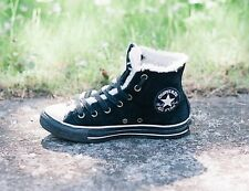 SCARPE CONVERSE INVERNALI ALL STAR CHUCK TAYLOR SHOES SZ 5/37.5 NERO/BLACK S91