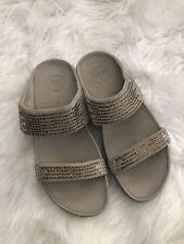 FitFlops Womens Tan Rhinestones Sandals Size 8