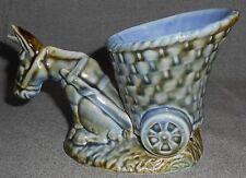 Wade Porcelain SHAMROCK PATTERN Donkey w/Cart Planter MADE IN IRELAND