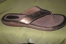 womens BORN shoes metallic   Thong Flip Flops Sandals - Size 9 EURO 40.5 EUC