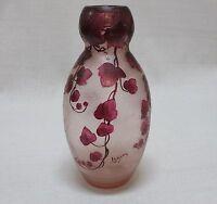 """Gorgeous Art Nouveau LEGRAS Vase (13-1/2""""h) -- Mint Condition/Rich Colors"""