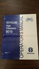 New Holland 8010 Tractor Operators Manual Part 86579558