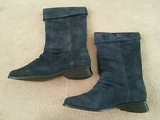 Markon-Suede Leather Mid-Calf Boots! Free Shipping!