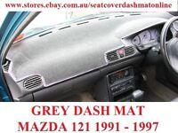 DASH MAT, DASHMAT, DASHBOARD COVER FIT  MAZDA 121 1991-1996, GREY