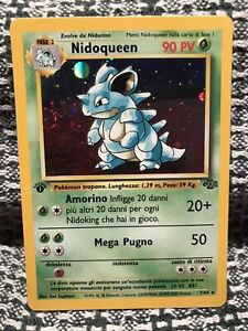 1st Edition Nidoqueen 7/64 Holo Rare Pokemon Card -Jungle Set 1999 ITALIAN NM-M