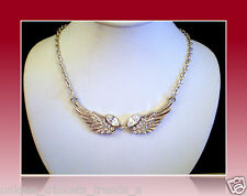 PRETTY SILVER WHITE ANGEL WINGS NECKLACE PENDANT MOTHERS DAY GIFT FOR MOM MOTHER