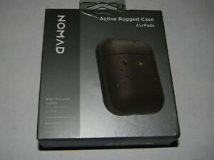Nomad Rugged Case for Apple Airpods 1 & 2 Gen - Rustic Brown Leather MINT!!