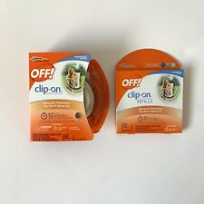 OFF!® Clip-On Mosquito Repellent Fan Unit With 3 Refills New