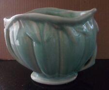 Vintage Aqua NELSON MCCOY Pottery LILY BUD VASE