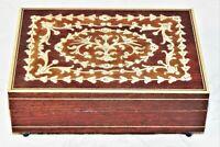 vtg wood marquetry Reuge Swiss Movement jewelry/ music box Lara's Theme vguc