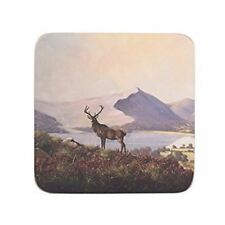 Highland Stag Coasters 10.5cm by 10.5cm (Set of 6)
