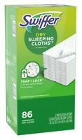 Swiffer Dry Sweeping Cloths Dry Floor Mop Unscented 86 Count