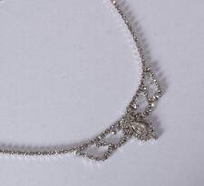 Traum Collier Kette silber rhodiniert funkelnder Swarovski Strass Kristall * Neu
