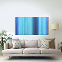 48x24 Abstract Art - Painting Blue Turquoise Beach Coastal - US Artist