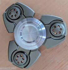 JTK TRI Aluminum Arny Green Fidget Hand Spinner Toy Hand Desk Steel Bearing