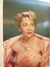 Mounted print Film Star JOAN FONTAINE Hollywood 1940's