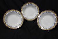 3 Pc TRELLIS ROSE Rim Soup Bowl By Sue Zipkin, Ultra Porcelain by Sakura, 1995