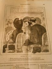Caricature 1880 - Modes Faire une lucarne au Chapeau pour voir la scène