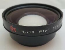 16x9 Inc EX HDV75X82 0.75x Wide Angle Converter for 72mm HDV & DV Camcorder Lens