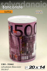 KINTRADE Creativo Euro Dollar Metal Cylinder Salvadanaio Salvadanaio Salvadanaio Home Decor Piccoli Banconote Salvadanaio $ 50