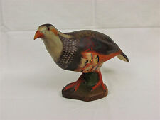 Antique Mottahedah Italy Clay Pottery Partridge Quail Bird 8""