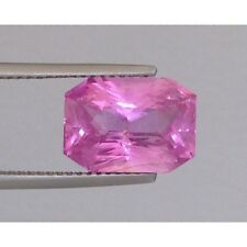 Natural Pink Sapphire Purple-pink color Octagonal shape 6.14 carats
