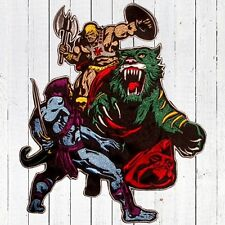 He-man vs Skeletor Embroidered Patch Big for Back MOTU Comic Masters of Universe