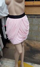 BNWT Lipsy London Fabulous Mini Baby Pink Layers Skirt Black Waistband UK 8 FAB!