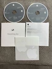 MacBook Mac OS X Snow Leopard 10.6.4 Install Discs with Apple Stickers & Manual