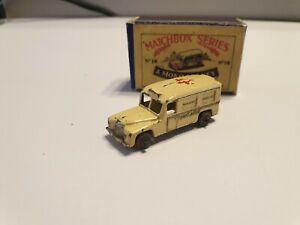Matchbox Lesney RW No 14A Daimler Ambulance with Repro Box